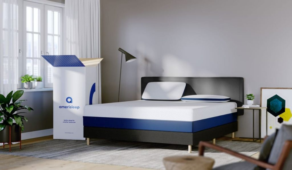 unboxing of newly delivered amerisleep mattress   Amerisleep vs Cocoon by Sealy