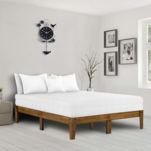 Ecos Living 10-Inch High Rustic Solid Wood Platform bed