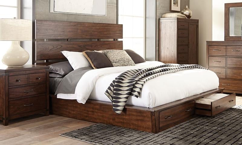 Scott Living Artesia Platform Bed with Storage
